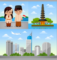 Journey to indonesia vector