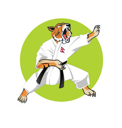 Karate tiger vector