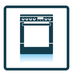 Kitchen main stove unit icon vector image
