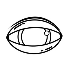 Line human eye to optical vision icon vector