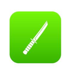 little knife icon digital green vector image