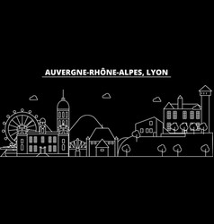 Lyon silhouette skyline france - lyon city vector