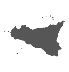Map of Sicily vector