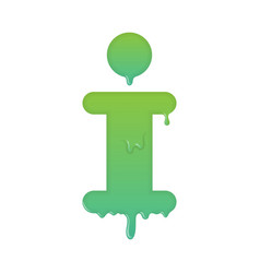 Melting info icon support and help desk vector
