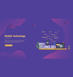 mobile technology concept with smartphone and vector image