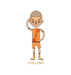National holland soccer football player vector
