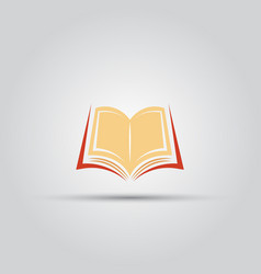 open book isolated colored icon vector image