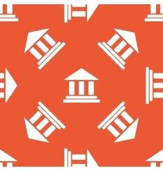 Orange museum pattern vector