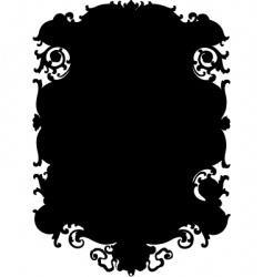 ornate swirl background vector image