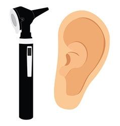 Otoscope and ear vector