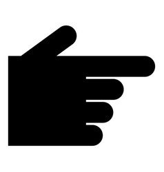pointing hand icon black color flat style simple vector image