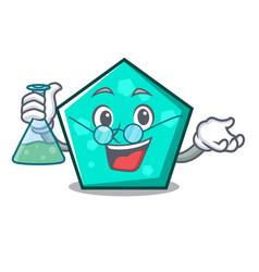 professor pentagon character cartoon style vector image