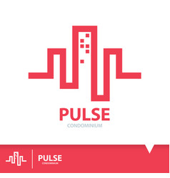 pulse condominium icon symbol vector image