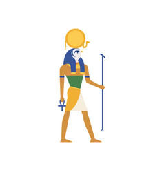 Ra the god of the sun egyptian ancient culture vector