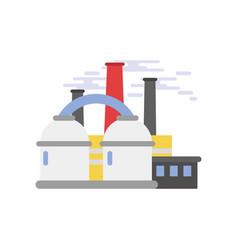 refinery plant industrial building vector image