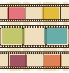 Retro background with film strips vector