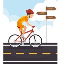Roads and ways design vector