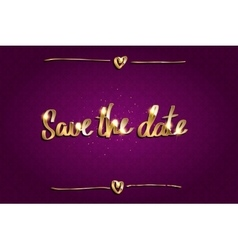 Save Our Date vector image