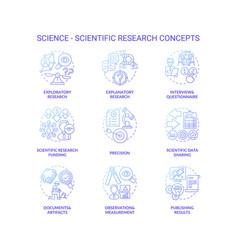 Science and scientific researching dark gradient vector