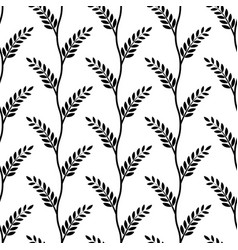 seamless background olive branch laurel wreath vector image