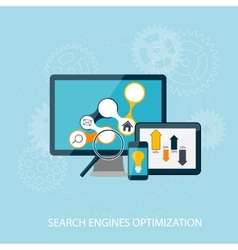 Search Engines Optimization Concept vector