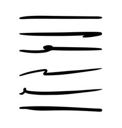 Set hand drawn underline highlighter marker vector