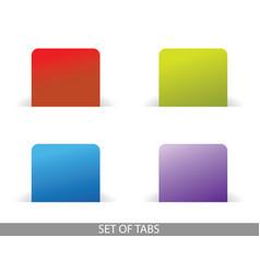set tabs vector image