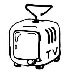 Television set drawing vector