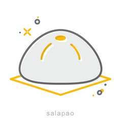 Thin line icons Salapao vector