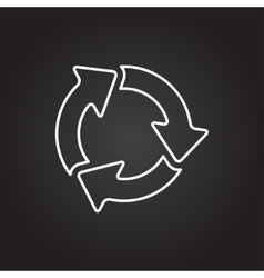 Three arrows icon vector