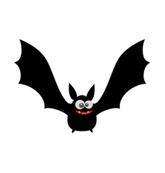 vampire black flying icon vector image