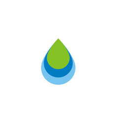 water drop bio level logo vector image
