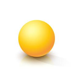 yellow sphere vector image