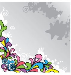 abstract cartoon background vector image vector image