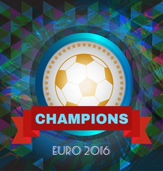Abstract football and soccer infographic champions vector image vector image
