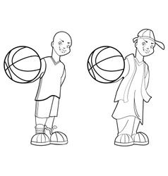 Basketball Teen vector image