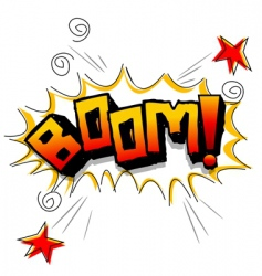 boom with stars vector image vector image