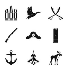 bullet icons set simple style vector image