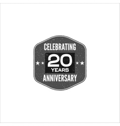 Celebrating 20 years anniversary badge sign and vector image vector image