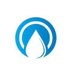 circle waterdrop nature logo vector image
