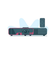 multimedia projector icon on vector image