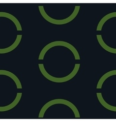 Seamless geometric green background vector image