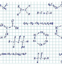 Seamlessly pettern - chemistry vector image