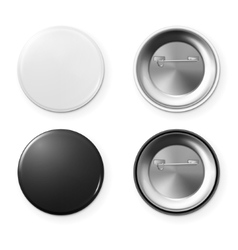 Blank button badge vector image vector image