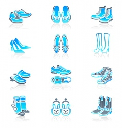footwear icons marine series vector image vector image