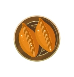 Homemade pies served food vector