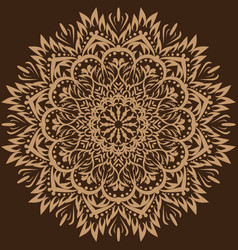 mandala brown background vector image