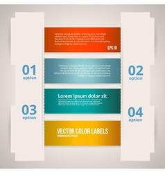 Option Banner Design vector image