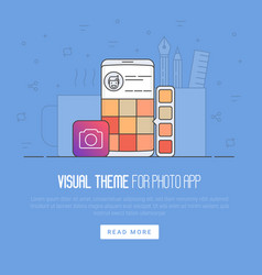 photo app development concept vector image vector image