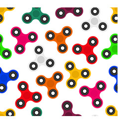 seamless texture fashionable spinners toy that vector image vector image